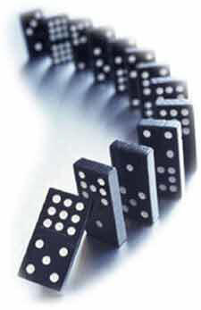 Recession, the domino effect, and churches