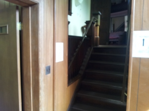 Entrance to the sanctuary before remodeling to install the new lift.
