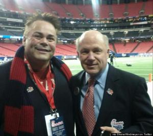 Shane Windmeyer and Dan Cathey at the Chick-Fil-A Bowl.