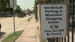 'No Muslim Parking' Sign Angers US Muslims